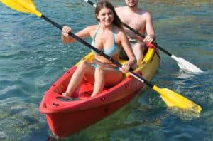 Calm waters kayaking on sea