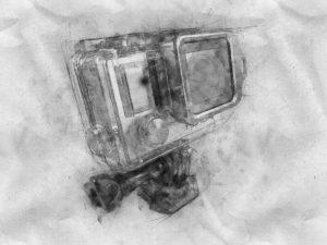 gopro camera illustration