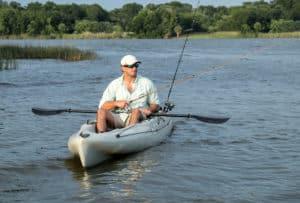 Man Kyak Fishing