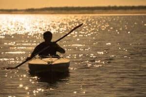Ocean Kayak At Sunset