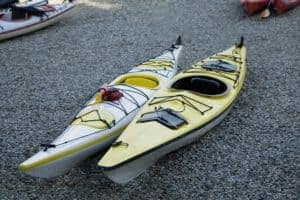 Sea Kayak on shingle