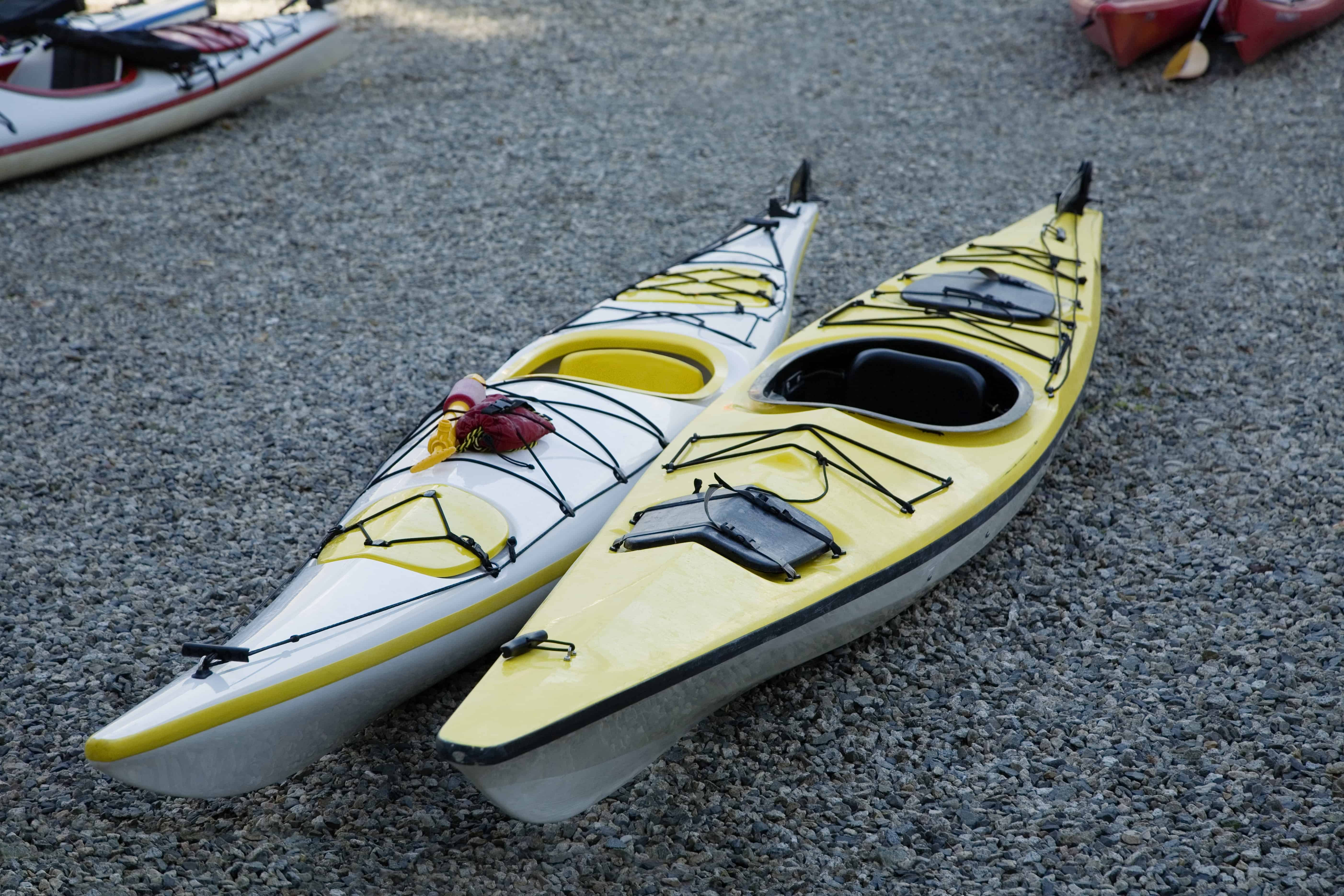 Sea Kayak on shingle